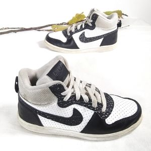 Nike boys court borough mid high top sneakers